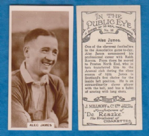 Arsenal Alec James Scotland 16